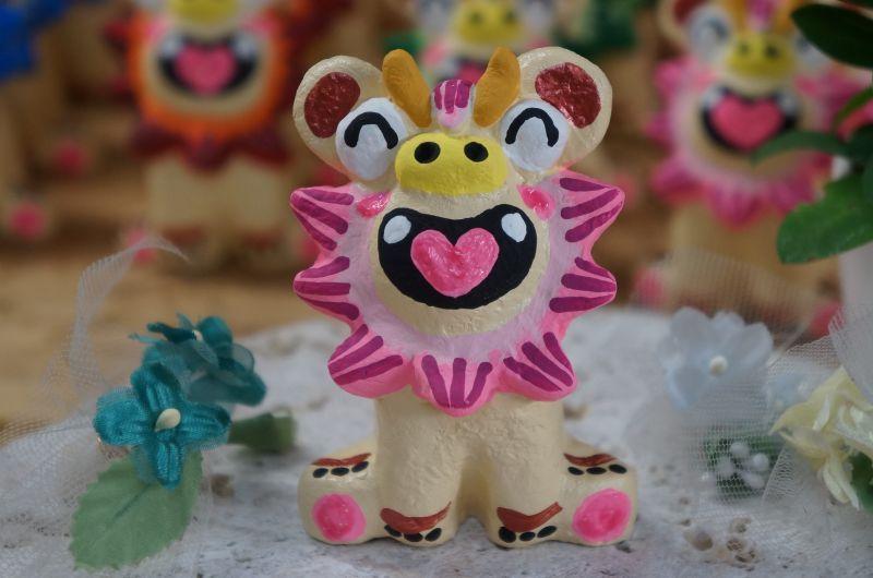 画像1: にっこりシーサー(ピンク)